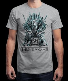"""""""Throne of Games"""" is today's £8/€10/$12 tee for 24 hours only on www.Qwertee.com Pin this for a chance to win a FREE TEE this weekend. Follow us on pinterest.com/qwertee for a second! Thanks:)"""