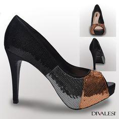 Todos os ângulos do Divalesi perfeito para você! http://loja.divalesi.com.br/products/peep-toe-cetim-preto-lantejolas
