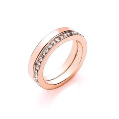 Buckley London Versa Rose Gold Duo Ring