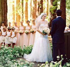 Wedding in the forest. Woods wedding. Outside wedding. outdoor wedding