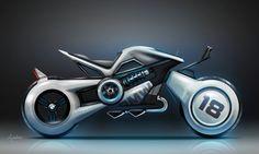 Motorbikes by Frédéric LE SCIELLOUR, via Behance