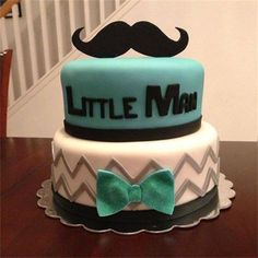 Mustache cake by amberslittlecupcakery.com