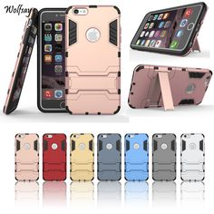 Cover For Iphone 6S Case 4.7 inch Rubber & Plastic Case For Apple iphone 6S 6 iphone6 Slim Phone Coque Business Holder Stand Bag