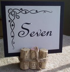 Table numbers for wine-themed wedding