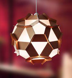 Creative Cardboard lamp for design of space - Cardboard sculpture.