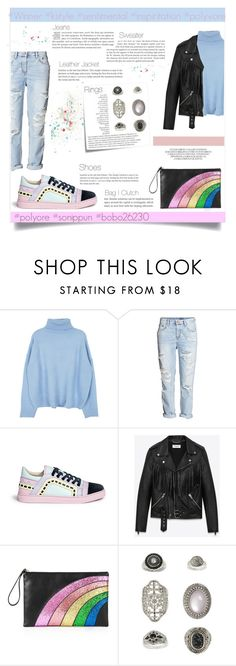 """""""Untitled #254"""" by bobo26230 ❤ liked on Polyvore featuring Sophia Webster, Yves Saint Laurent, RED Valentino, Post-It, Topshop, By Terry, inspiration, winner, sentimental and kstyle"""