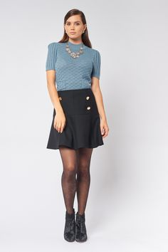 Main: Wool, Lining: Polyester, Elastane Professional Dry Clean Only Work Wardrobe, New Work, Online Price, Skater Skirt, High Waisted Skirt, Mini Skirts, Wool, Boutique, Clothes