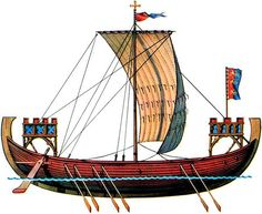 Norman/scandinavian  vessel 1250 - descended from the viking longboats from 800 AD with forecastles.