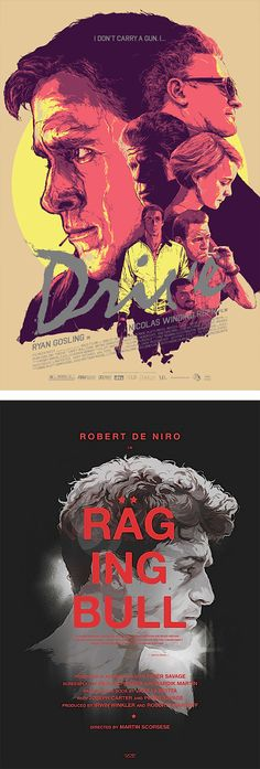 Haven't seen either movie, but the posters by Grzegorz Domaradzki are beautiful!
