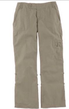 The North Face Cargo Pants - Women's  Size 4 Tan Pockets Roll UP Hiking Camping #NorthFace