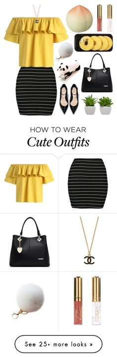 """""""  Summer Office Wear  """" by jamanabetsy on Polyvore featuring Boohoo, Chicwish, Lindt and TONYMOLY"""