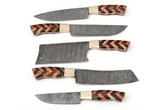 Damascus Steel Kitchen Knives, Damascus Chef Knives, Damascus Knife, Chef Knife Set, Knife Sets, Handmade, Etsy Shop, Bag, Check