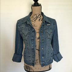 Hydraulic Jean Jacket This is a jean jacket form Hydraulic size Large. It is long sleeve. Has double buttons on collar. In excellent condition Hydraulic Jackets & Coats Jean Jackets