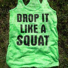 Fallen sie wie ein Squat Workout Tank Top von signaturetshirts