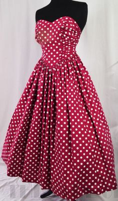 Fabulous Fifties Polkadot Ball Gown from eBay's Theatre of Fashion.