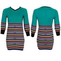 #whoswho #greenbird #marinamall #abudhabi #abudhabifashion #abudhabistyle #dubai #dubaifashion #dubaistyle #fashionista #womenswear #eveningwear #casualwear #fall2013 #winter2014 #dress #fitteddress #striped #turquoise #date #vneck #funky