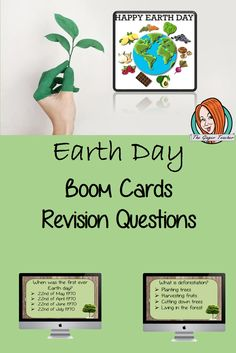 Earth Day Revision Questions This deck revises children's knowledge of Earth Day. There are multiple choice revision questions to check children's understanding. These question cards are self-grading and lots of fun! What Is Deforestation, Happy Earth, Multiple Choice, Earth Day, Trees To Plant, Homeschool, Self, Knowledge, Teacher