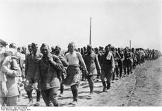 AUG 31 1941 German treatment of Soviet POWs Soviet POWs near Balta. Hundreds of thousands of Soviet troops were taken prisoner during 1941.