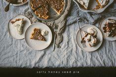 Salty Honey Seed Pie Nut-free | bettysliu.com