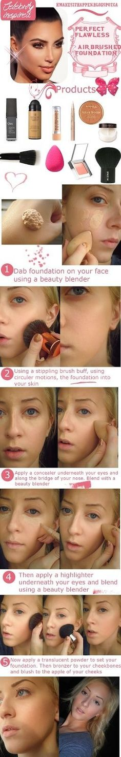 Perfect airbrushed makeup - beauty tips and tricks