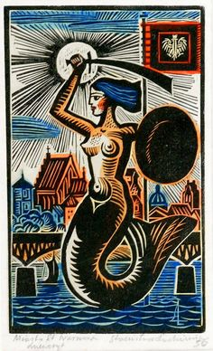The Polish Mermaid - symbol of Warsaw Siren Tattoo, Skull Girl Tattoo, Mermaid Tattoos, Hp Tattoo, Tattoo Small, Tattoo Flash, Fantasy Mermaids, Mermaids And Mermen, Dibujo