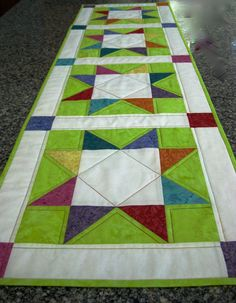 Quilted Table Runner Worldwide Quilting Day Spring by SallyManke, $45.00