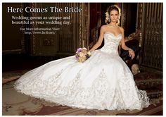 Here Comes the Bride has always delivered top-drawer service and expertise to ensure that every bride has an enjoyable and rich experience and gets the personal, tailored service they deserve. For More Information Visit: http://www.hctb.net/