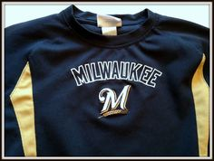 MILWAUKEE BREWERS MLB LICENSED EMBROIDERED JERSEY YOUTH XSMALL 4-5 FREE SHIP #MLB #MilwaukeeBrewers