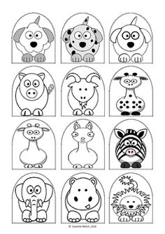 Stick puppet templates.Black and white so children can colour.Animals and people.12 puppets per A4 page.3 pages of animals  (36 puppets in total)2 pages of people (24 puppets in total)Colour, laminate (optional) and attach to a craft stick.Students can then use these puppets to create puppet shows.