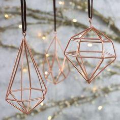 Copper Wire Tree Ornaments - Modern Interior Design