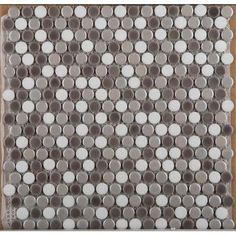 Emser Tile Confetti Porcelain Penny Mosaic Tile in Freddo Blend