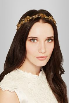 Jennifer Behr | Nyssa gold-tone headband | NET-A-PORTER.COM
