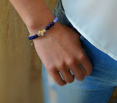 Dámský náramek BRYXI z přírodními kameny NA0663 | BRYXI shop.cz Lapis Lazuli, Swarovski, Delicate, Bracelets, Jewelry, Fashion, Bangle Bracelets, Jewellery Making, Moda