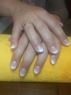 Just a classic french on gel nails.