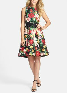 The perfect floral fit & flare dress for a garden party.