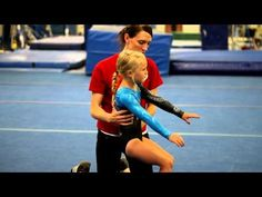 ▶ Back Handsprings for Beginner Gymnasts : Beginning Gymnastics - YouTube  this is kinda a weird spotting technique but that little girls handspring is grougeous! i need to get my little ones to lean to pop like that!
