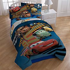 @Overstock - Every little racecar enthusiast will love this seven-piece Disney Pixar Cars bed in a bag. This set features a flat sheet, fitted sheet, a comforter, two shams and two pillowcases adorned with characters from the Disney hit movie Cars. http://www.overstock.com/Bedding-Bath/Disney-Pixar-Cars-Grand-Prix-Full-size-7-piece-Bed-in-a-Bag-with-Sheet-Set/6773780/product.html?CID=214117 $69.99