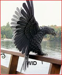 Handcrafted Wrought Iron Eagle