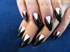 Moon manicure, acrylic nails #nails #nailart #stockholm #handpaintednailart