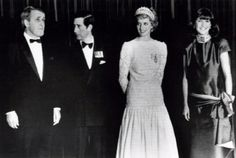 1986-05-01 Diana and Charles with the Premier of Canada, Brian Mulroney, and his wife Mila, at the Hyatt Regency Hotel in Vancouver, British Columbia