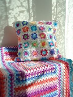 "This blog should be titled ""Not afraid of color"". I love her color choices in her crocheted items. Stunning results!"
