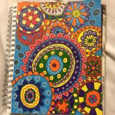 Art journal page...sloppy mandalas