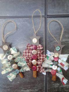 Christmas ornaments cinnamon stick ornaments. by AJewelOfACraft