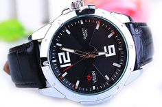Men's leather watch waterproof watch big by Beautifuljewelrys, $14.99