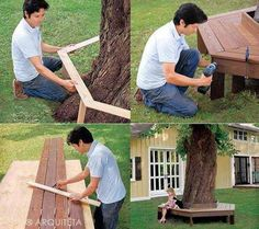 Build a Tree Bench | Well Done Stuff !
