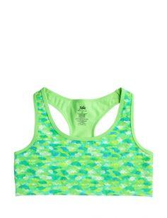 Printed Lace Sports Bra