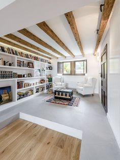 The renovation of a century-old house in contemporary style and design - planete deco a homes world Furniture Layout, New Furniture, Living Room Furniture, Loft App, Coffee Bar Design, Cabinet D Architecture, Plans Architecture, Casa Patio, Paint Your House
