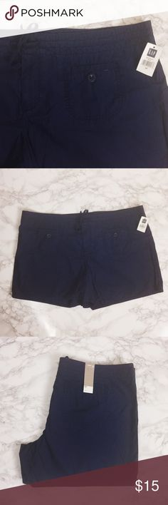 NWT Navy Blue Gap Shorts NWT Gap shorts. Pockets in front and back. Drawstring at waist. ★ measurements available upon request ★ reasonable offers considered ★ no trades GAP Shorts