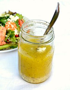 Lemon Vinaigrette Recipe for salad or pasta dressing from Serena Bakes Simply From Scratch. Salad Dressing Recipes, Salad Recipes, Salmon Salad Dressing, Avacado Dressing, Lemon Vinagrette, Balsamic Vinegarette, Salate Warm, Sauces, Dressings