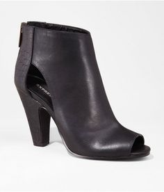 Express Open Toe Side Cut-Out Heeled Bootie, $98Get It Here via StyleList